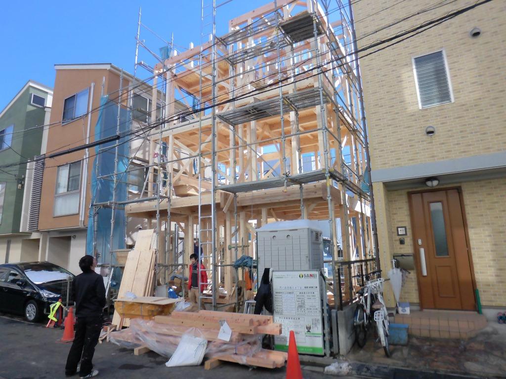 本日、遂に上棟。建物を立体的にご覧ください。